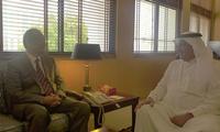 安瓦尔大使会见巴林内政部次大臣兼移民局局长拉希德