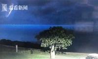 真的是UFO吗?监控拍下雷暴夜空中神秘光圈