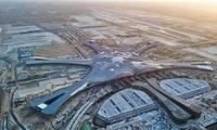 北京新机场明年10月试运行 航站楼封顶封围
