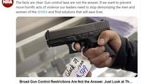美国去年近4万人死于枪下,数字创40年新高