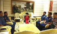 驻拉瓦格馆长领事王建群会见菲律宾第一区警察总监萨皮图拉