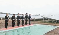 日本宫城县遭海啸毁坏的旧址上建成太阳能发电站