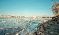 内蒙古绝美自然奇观 磴口黄河流凌