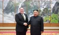 金正恩会见美国务卿蓬佩奥:相信朝美间对话将持续下去