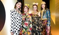 杜嘉班纳秀场四国人气女星同框合影 品牌大使迪丽热巴将神秘奢华完美呈现