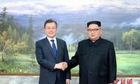 金正恩与文在寅在板门店举行第二次会晤