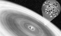 年轻行星圆盘中发现大量有机分子
