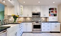 厨房这种材质橱柜,防火耐用,很多人没用过不知道!天天洁净反光