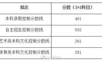 上海高考成绩发布:本科分数线401