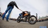 俄罗斯远东城市举行摩托车展