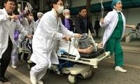 武汉大学中南医院一名医生出诊时被陌生人刺伤