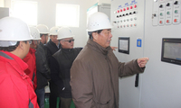 鄂竟平主任检查京石段工程冬季输水运行情况