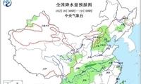 西南地区东部江汉等地有雨 新疆北部内蒙古东北部有雨雪