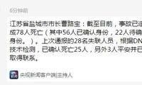 江苏响水化工企业爆炸事故已造成78人死亡