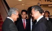 马来西亚总理马哈蒂尔抵达北京机场
