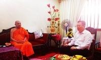 驻斯里兰卡大使程学源拜会斯里兰卡花园寺派和阿斯羯利亚派僧王