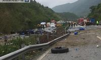 沪蓉高速重庆段一危化品货车自燃后爆炸 致5伤