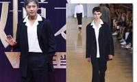 邓超亮相2017微博之夜红毯 廓形西装演绎雅痞型男